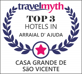 Casa Grande de São Vicente is now ranked in the top 3 hotels in Arraial d' Ajuda